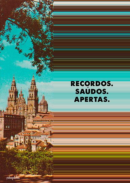 cartel con paisaje gallego para producción audiovisual de rebordelos